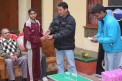 Sangay Sherpa giving prize to the winners