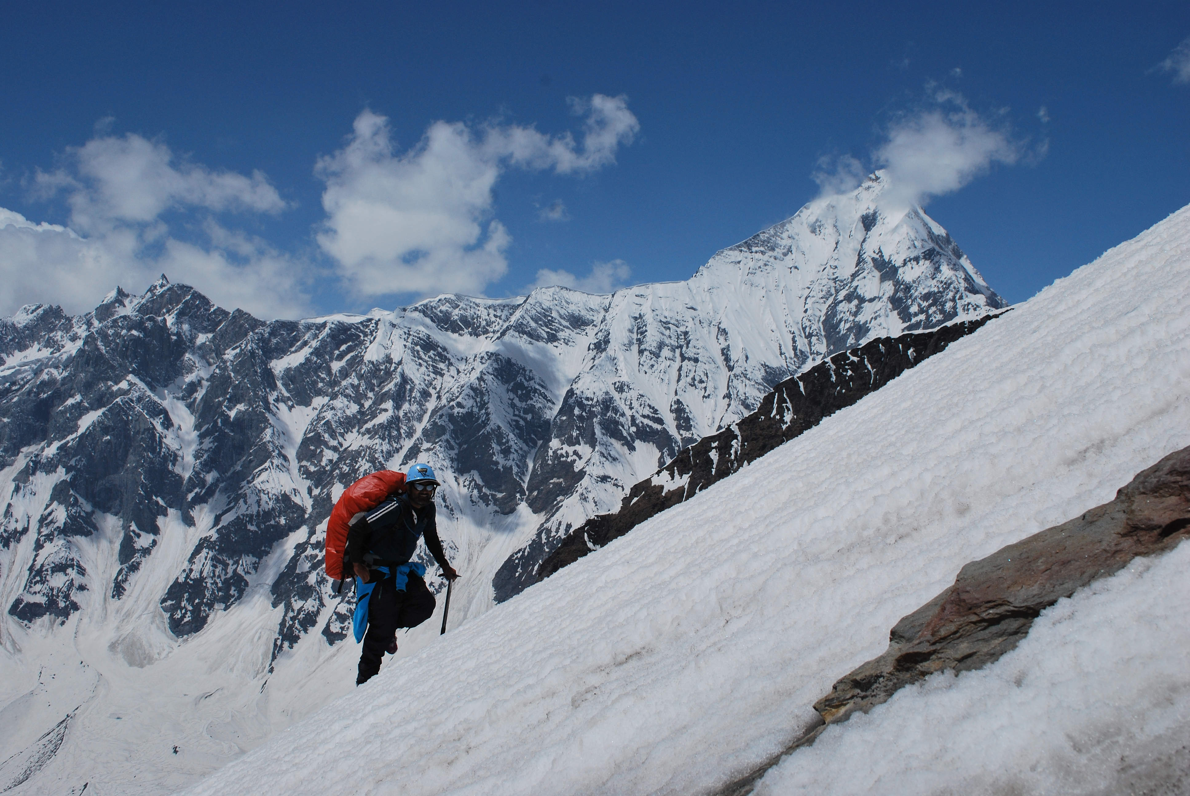 Climbing on snow Mountain training.JPG