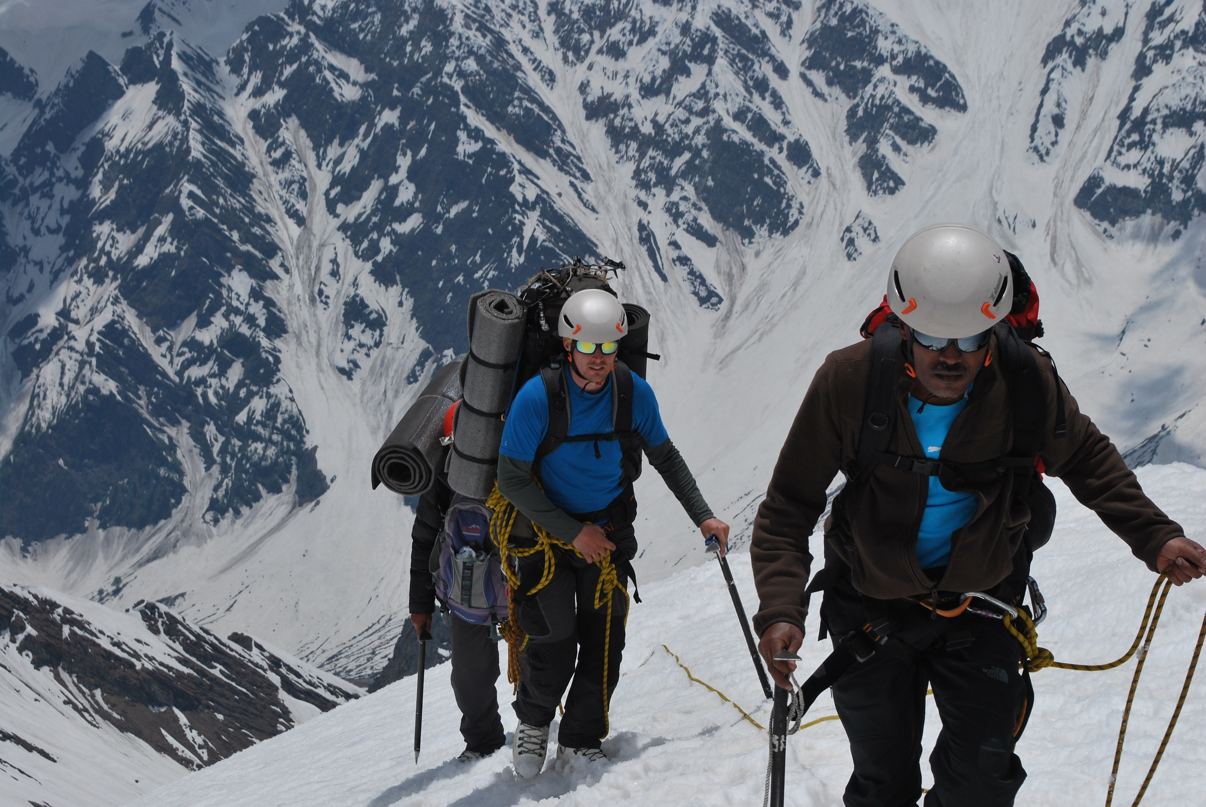 Roped up glacier travel Mountain training.JPG