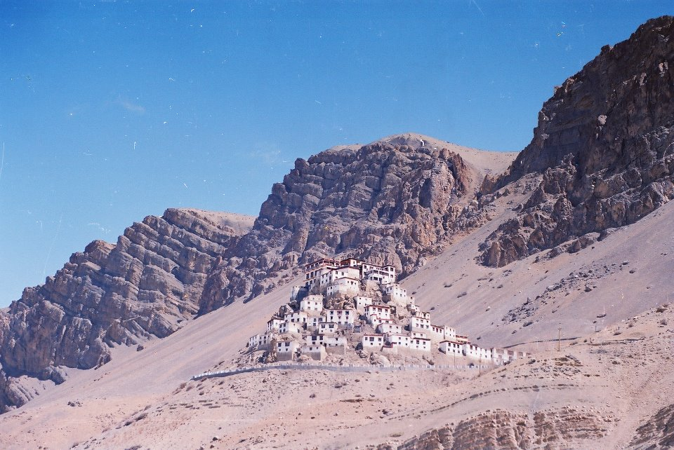 The dramatically located Kee gompa and its monastic campus