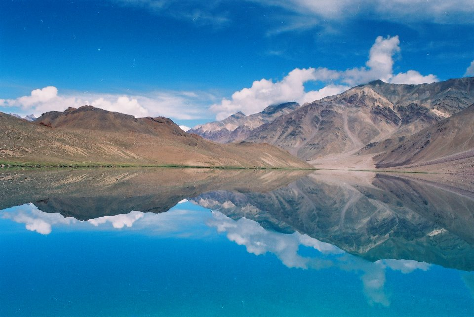 The mirror of the mountains! Bliss to be at the high-altitude lake of Chandra-taal